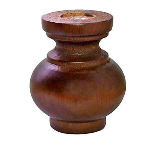 Home System Piedino in Legno Dekor, Diametro 85, H. 100 mm, Noce