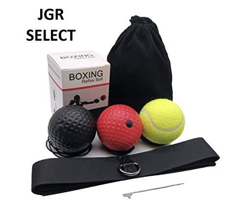 JGR Select Pelota de Boxeo Reflejos – con Diadema, 3