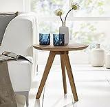 LCSA Couchtisch Couchtisch Tisch Beistelltisch 50cm Massivholz Holz Wildeiche Eiche Wohnzimmertisch