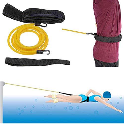ZMYGOLON Swim Training Belts, Swim Harness Static Swimming Belt, Swim Bungee Cords Resistance Bands
