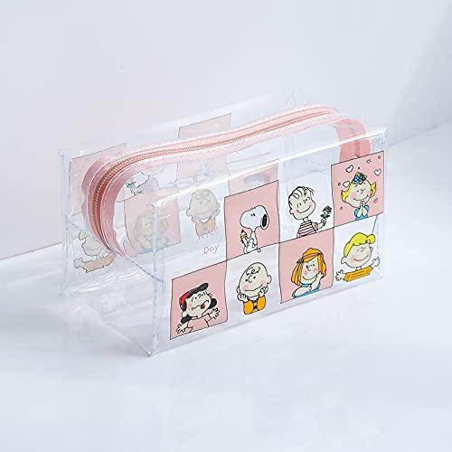 LIZHIOO 1 PC Girl Clear Cosmetic Bag PVC Bolsa de Maquillaje Transparente para Mujeres con Cremallera Impermeable Caso de Belleza Bolsos de Aseo de Viaje (Color : Cube)
