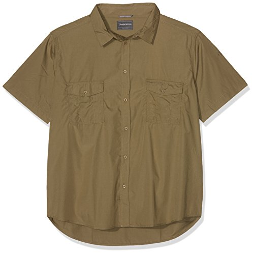 Craghoppers Herren Kiwi Kurzarm Hemd, Pebble, XXXL