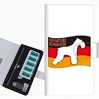 プルーム テック 専用 ケース 手帳型 ploom tech ケース 【ZA834 ミニチュアシュナウザー】