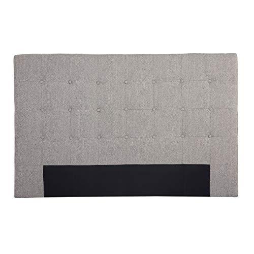 Miliboo Tête de lit en Tissu Gris Clair 170 cm LUTECE