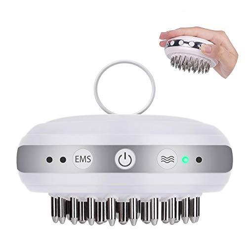 Productos para el cabello de crecimiento ccsme Cabeza masajeador eléctrico líquido pelo importación Recrecimiento peine para el cabello Cuidado del cuero cabelludo Pérdida liberar el estrés,Blanco