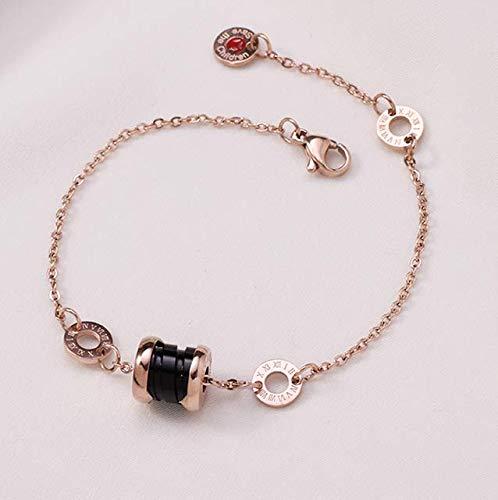 Dames Zwart Keramisch Titanium Staal Armband