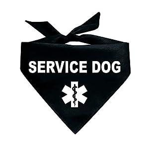 Tees & Tails Service Dog Triangle Dog Bandana (Assorted Colors)