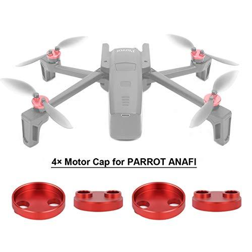 Flycoo 4 stks motorkap voor papegaai Anafi drone bescherming accessoire stofdicht schokbestendig waterdicht CNC legering aluminium, Rood