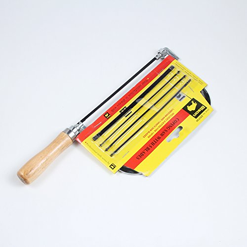 """7"""" Wooden Coping Saw Frame Delude Coping Frame/End Screw + 5 Bladeds"""