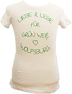 VfL Wolfsburg Damen T-Shirt Liebe&lebe Weiss - Verschiedene Größen