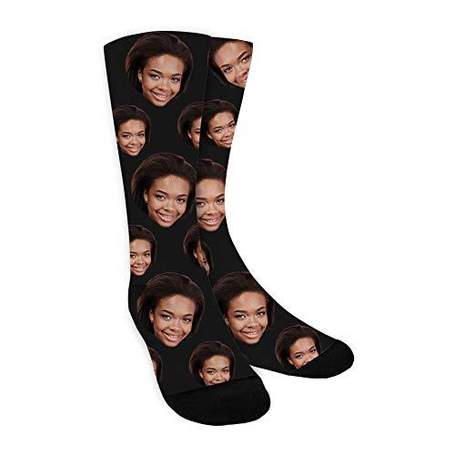 MissChic Personalisierte Socken,Lustige Foto Socken, Socken mit Gesicht für Unisex, Geschenk für Freuen, Herren, Fre&in, Mutter, Schwester