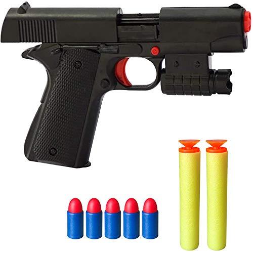 Rivoean Toy Gun  1 Pcs Black Toy Pistol Realistic 1:1 Scale Colt M1911A1 Rubber Bullet Pistol Mini Pistols