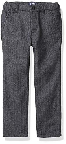 The Children's Place Boys' Toddler Herringbone Skinny Dress Pants, Black, 3T