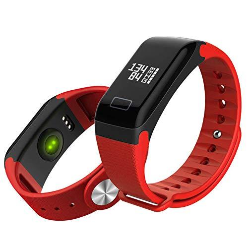 Guoqing Rastreador de fitness impermeable con monitor de frecuencia cardíaca de oxígeno de oxígeno flácido, reloj inteligente con monitor de sueño, podómetro para calorías, rojo