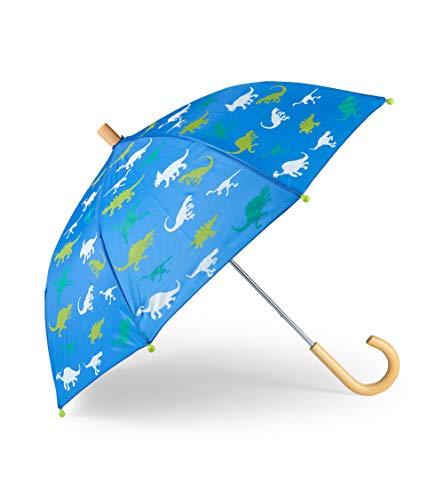 Hatley Printed Umbrella Regenschirm Jungen, Blau (Dinosaur Menagerie 400), Einheitsgröße (Herstellergröße: One size)