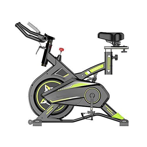 XJWWW-URG Ciclismo de interior for bicicletas estáticas, manubrios y asientos ajustables, pantalla electrónica LCD, sensor de frecuencia cardíaca, con ruedas móviles portátiles, adecuados for gimnasio