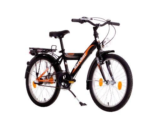 Karcher Kinder Fahrrad ATB Y-Type, 3-Gang Rücktrittbremsnabe, schwarz/orange, Rahmenhöhe: 30 cm, Reifengröße: 20 Zoll (50,8 cm), 280002