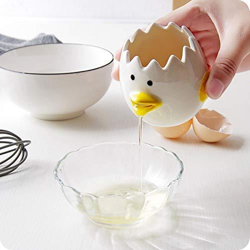 Hihey Eier weiß Separator Eigelb Extractor Keramik Eier Weiß Separator Küche Werkzeug Cartoon Eier Weiß Eier Separator Hausgarten Küche