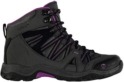 Gelert Damen Ottawa Mid Wanderstiefel Wanderschuhe Trekking Stiefel Outdoor Boots Charcoal/Purple 6 (39)