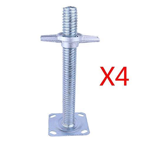 DXJL Casters Industrie Casters 4Pcs Gerüste Radschrauben Bold Lengthening Höhe Einstellen Rods Handstativ Sonder Adjustable Screw Rod Gerüste Zubehör dauerhaft/A