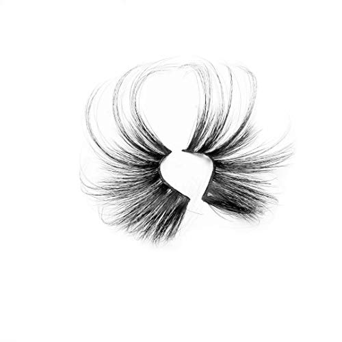 1 Pair 70mm Woman's Fashion Super Long Fluffies Criss-cross Lash Extension False Eyelashes 100% 3D Mink Hair 70mm Lashes(R008)