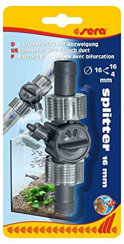 sera 45068 Splitter 16/22 mm mit Abzweigung auf 4/6 mm, Zwischenstück Aquarium, Schlauchverbinder, Schlauch Verbinder, Schlauchverbindung Außenfilter, Schlauch Verbindung für Wasserfall im Terrarium