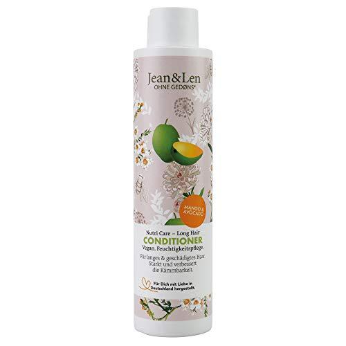 Jean & Len Philosophie Conditioner Nutri Care – Long Hair Mango, Avocado, wirkt Haarbruch entgegen, schützt vor Feuchtigkeitsverlust, 300 ml, 1 Stück