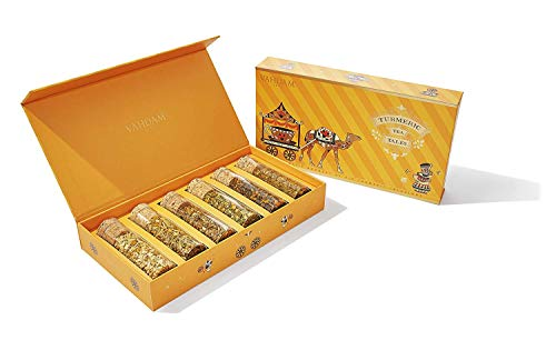 VAHDAM, Turmeric Herbal Tea, Assorted Gift Set - OPRAH