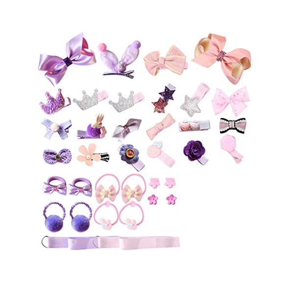 Beauty Shopping Baby Girl's Hair Clips Cute Hair Bows Baby Elastic Hair Ties Hair Accessories