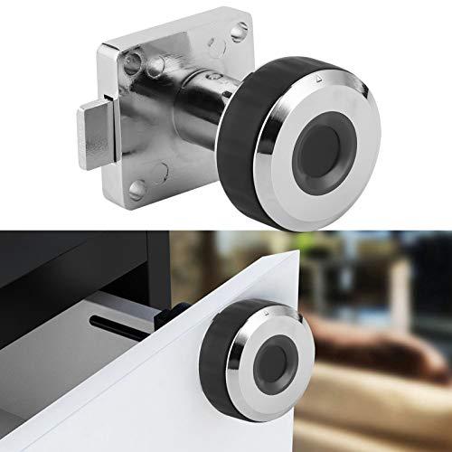 Cerradura de cajón, sistema de cerradura azul sin llave, biométrico de carga USB de aleación de zinc para armario