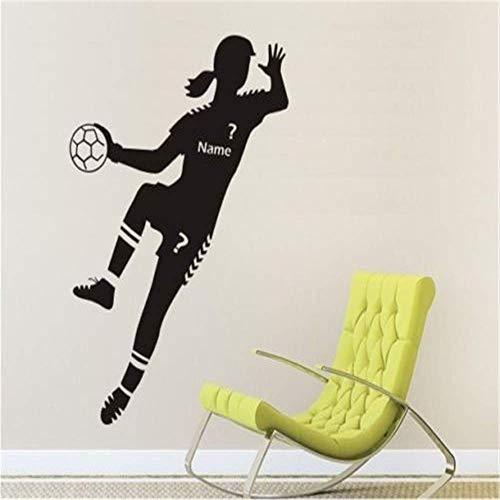 Wandtattoo Tapete Sport Handball Spieler Tapete Mädchen Schlafzimmer Poster Custom Wall Wandtattoo 57 X 120 Cm