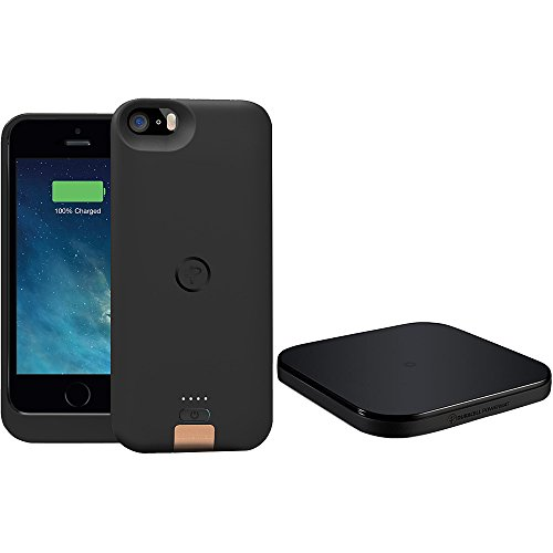 DURACELL POWERMAT PowerSet II Kit for iPhone 5 with Access Case and Powermat - Retail Packaging - Black