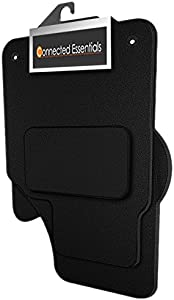Connected Essentials Fully Tailored Deluxe Car Mats For Fiesta MK7 2008-2017  Set Black With Black Trim  1947554   5003915