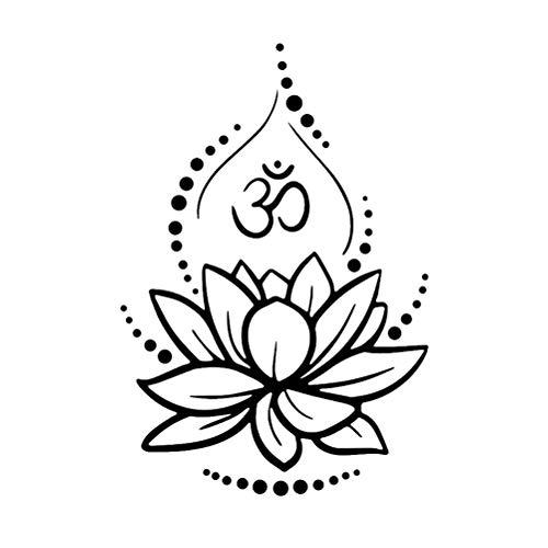 Loto Creativo Vinilo Tatuajes de Pared Om Signo Vinilo Pegatinas de Pared Yoga Meditación Tatuajes de Murales Extraíble Art Room Decor