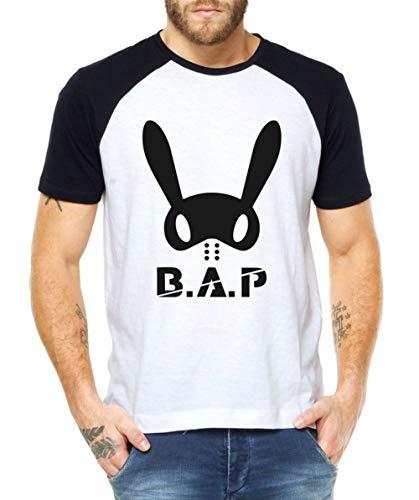 Camiseta Masculina Kpop Banda B.A.P Blusa Raglan (P)