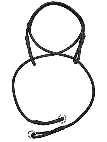 Seil-Hackamore CROSS, Vollblut/Warmblut, schwarz