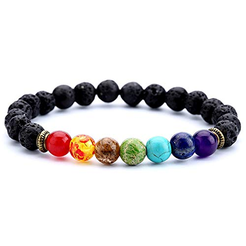 FWQW Lava Rock Stone Bead Bracelet Arrow Essential Oil Diffuser Volcanic Stone Bracelet for Men Women Jewellery