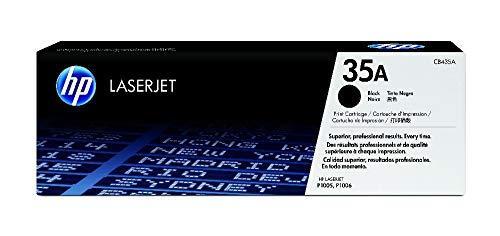 HP 35A CB435A, Negro, Cartucho Tóner Original, de 1.500 páginas, para impresoras HP LaserJet P1005 y P1006