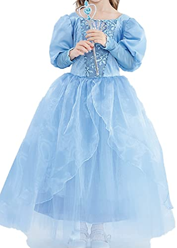 SLSCL 2021 Otoño Muchacha Vestidos Jazmín Princesa Sirena Fiesta Boda Niña Vestidos Ropa Ninos Tutú Flores Elegante Manga Falda Larga