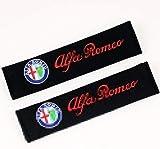 Es adecuado para la almohadilla de cinturón de seguridad 2pcs / set cubiertas del cinturón de seguridad del coche del modelo del bordado Cinturón de seguridad Fit For Alfa Romeo 159 147 156 147 159 gi