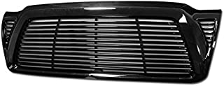 R&L Racing Black Finished Front Grill Horizontal Billet Style Hood Bumper Grille Cover 2005-2011 For Toyota Tacoma