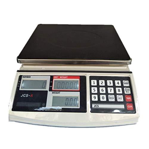 KDMB Báscula contadora multifunción Básculas electrónicas comerciales de Alta precisión con báscula Industrial LCD (tamaño: 6 kg / 0,1 g)