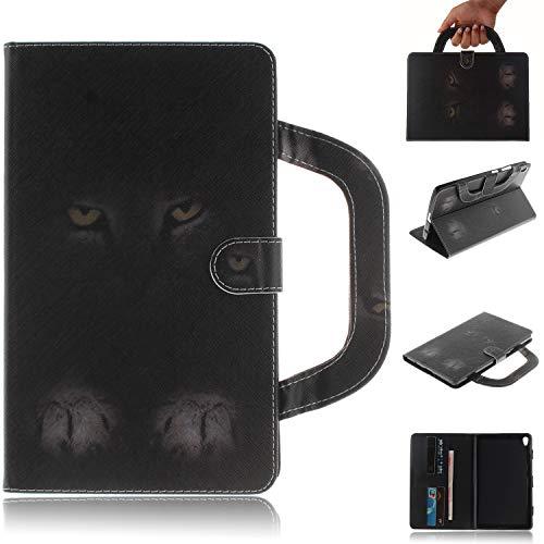 Candy House - Funda para tablet Lenovo Tab 3 8 Plus (P8 TB-8703F), cartera con soporte portátil [mango] [tarjetero] cierre magnético (gato misterioso)