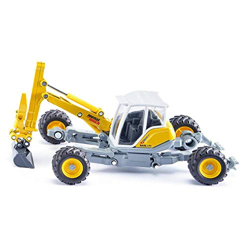 SIKU 3548, Menzi Muck Schreitbagger, 1:50, Metall/Kunststoff, Gelb, Verstellbares Fahrwerk