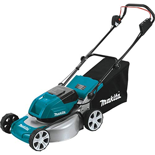 Makita XML03PT1 Dual Battery 18-Inch Cordless Lawn Mower Kit with 4 Batteries