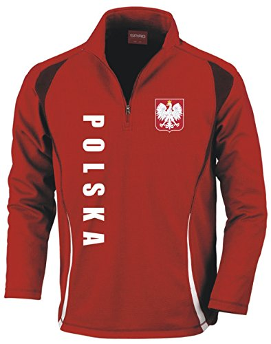 Aprom-Sports Polonia Training Stop - Camiseta de fútbol, color rojo rojo XL