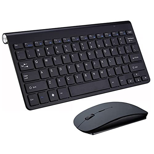 PVDR Mini Juego De Teclado Y Mouse Inalámbricos USB De 2.4G Teclado Y Mouse Combo Silencioso para Computadora Portátil Mac Escritorio PC Computadora Smart TV PS4 (Color : E)