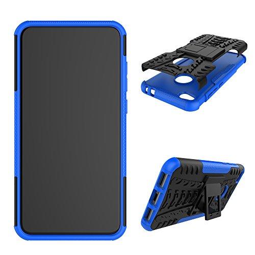 XINYUNEW Funda Huawei Honor 8 Lite/P8 Lite 2017, 360 Grados Protective+Pantalla de Vidrio Templado Caso Carcasa Case Cover Skin móviles telefonía Carcasas Fundas para Huawei Honor 8 Lite-Azul
