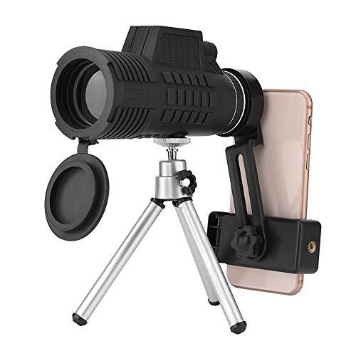 Acogedor Telescopio monoculare 50 x 60, Monocolo Professionale per Cellulare, Telescope Portatile Impermeabile con Adattatore e treppiede Telescopio Monocolo per Il Bird Watching Caccia Campeggio