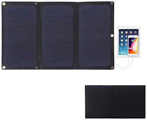 Solar Ladegerät 21W Portable Folding 3-fach ETFE Solar Panel Ladegerät Mit 5V / 3A Max Dual USB Ports Unterstützung QC3.0 Und AFC Für Camping Phone Tablet GPS Kamera Electronic Device - Schwarz